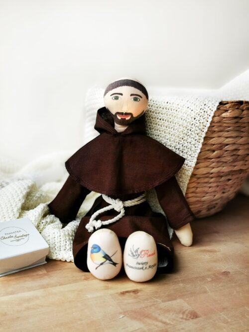 św. Franciszek przytulanka świętych od Ruah prezent na chrzest święty